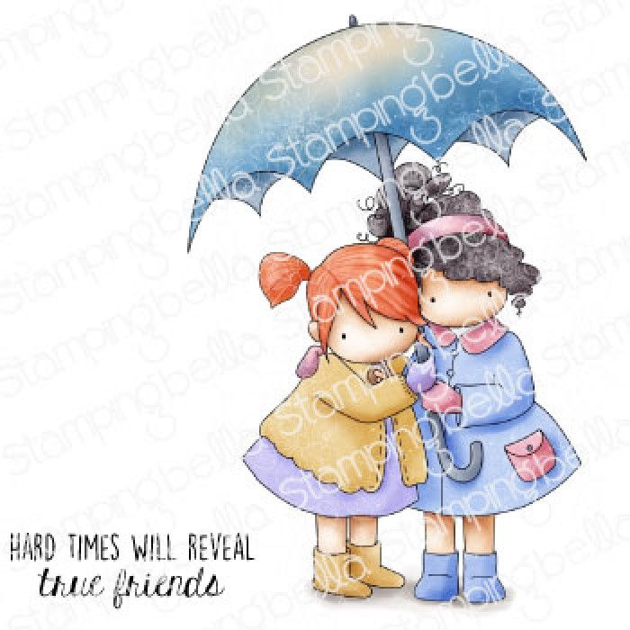 ****PRE-ORDER**** Stamping Bella - TINY TOWNIE UNDER AN UMBRELLA
