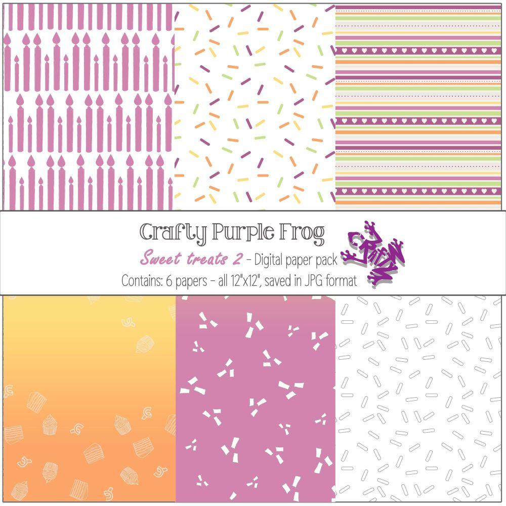 Sweet Treats pack 2 - Digital paper set - Crafty Purple Frog