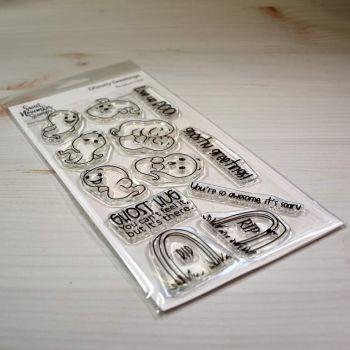 ****NEW**** Sweet November - Ghoslty Greetings Clear stamp set