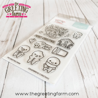 ***NEW*** Gingerbread Christmas clear stamp set - The Greeting Farm