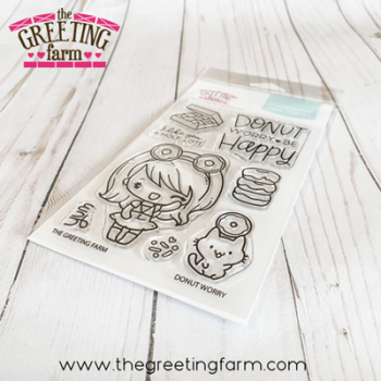 ***NEW*** Donut Worry clear stamp set - The Greeting Farm