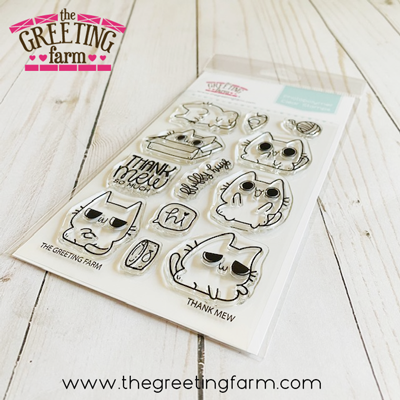 Thank Mew clear stamp set - The Greeting Farm