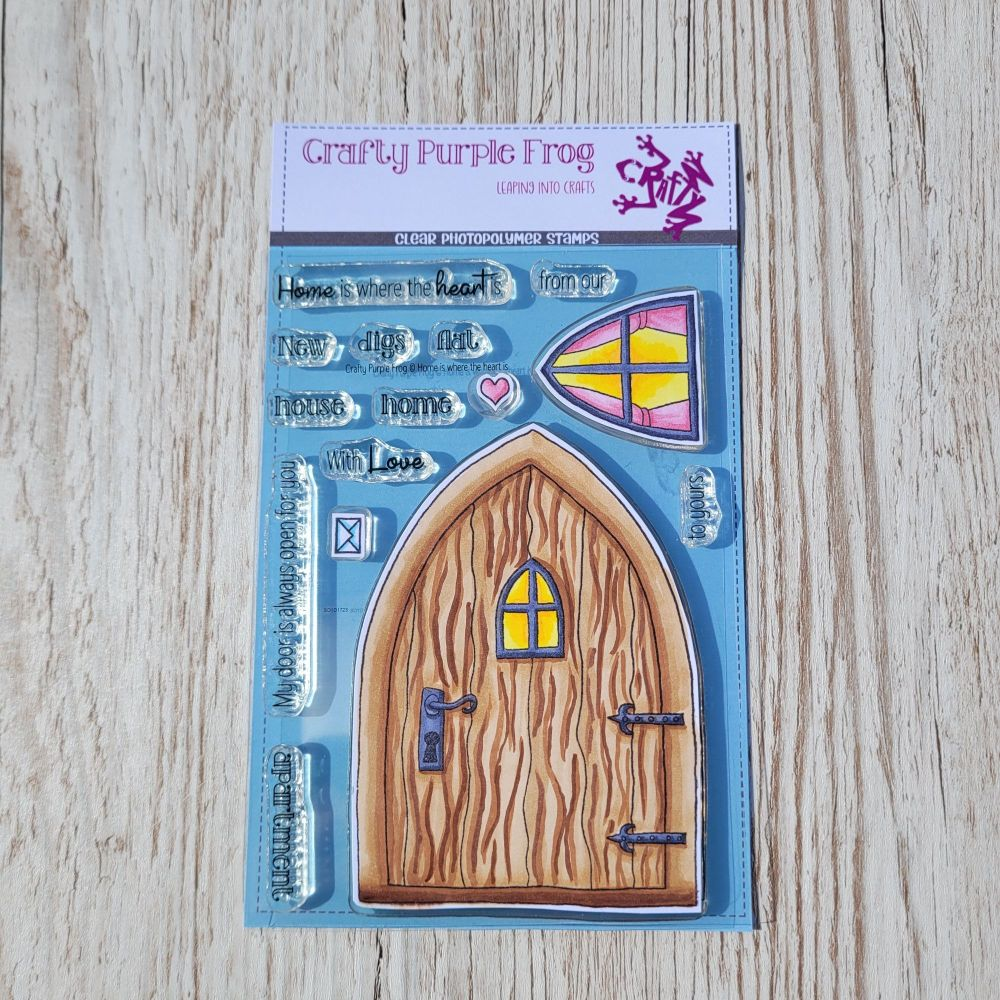 ****NEW**** Home is where the heart is Stamp Set - Crafty Purple Frog