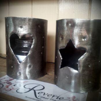 Metal Art cuff with star design.