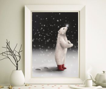 The Bear in Splendid Boots Art Print