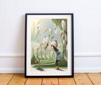 Ladybird Village Art Print