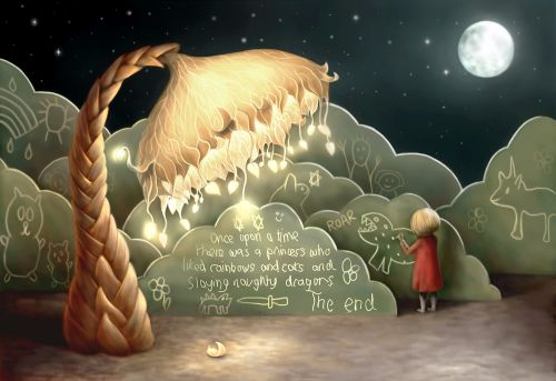 Bedtime Story Greeting Card