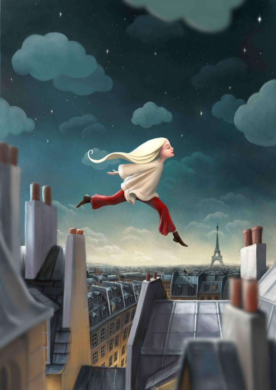 A Run in the Clouds Art Print