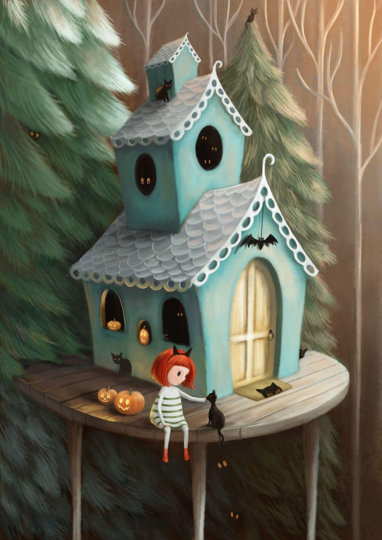 Halloween House Art Print