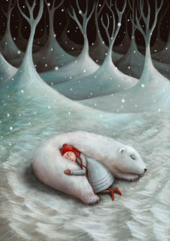 Nap Time  in the North Art Print