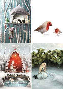 Winter Collection III Greeting Cards