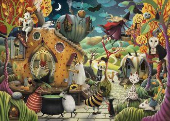 Party on Pumpkin Street Art Print