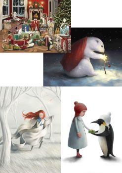 Winter Collection IV Greeting Cards