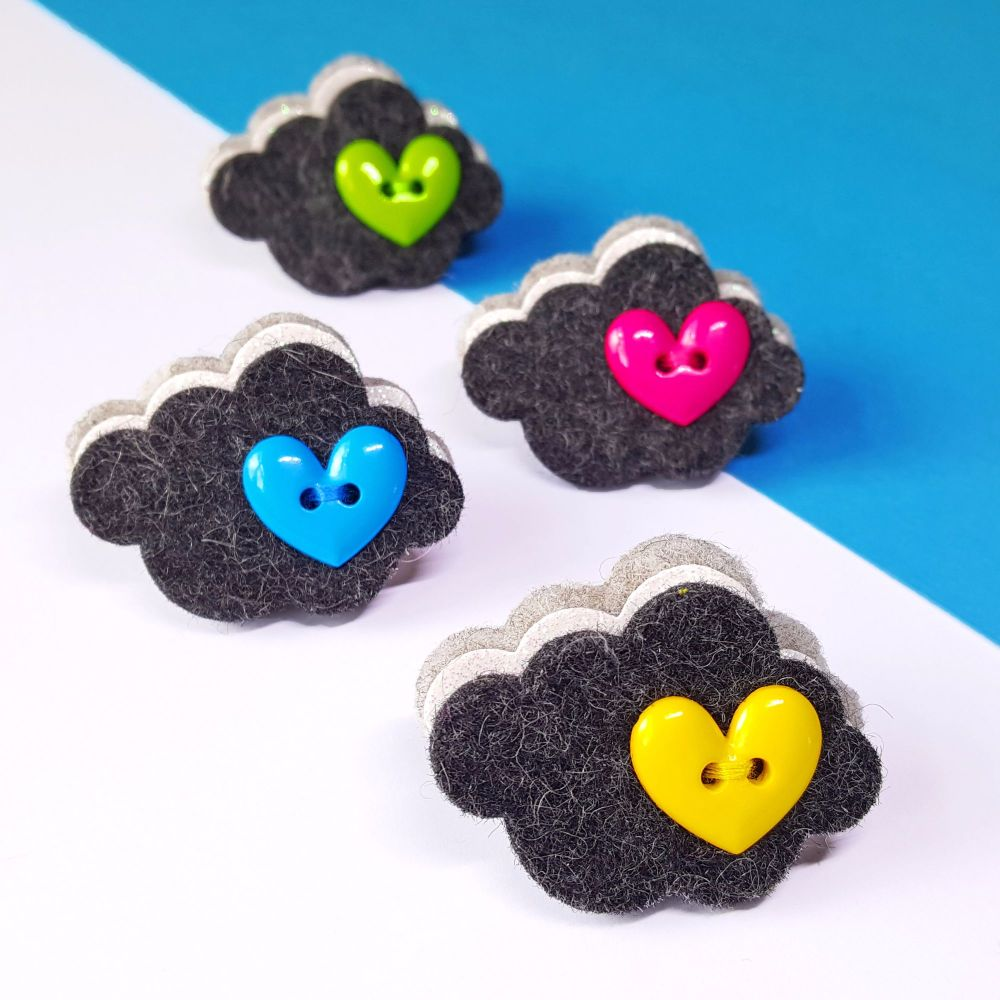 Every Cloud has a Silver Lining - Cloud Brooch