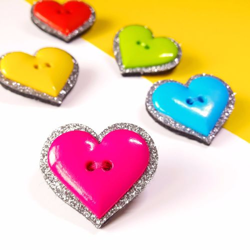 Sparkle and Shine - Heart Brooch