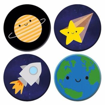 Kawaii Planet Badge Set