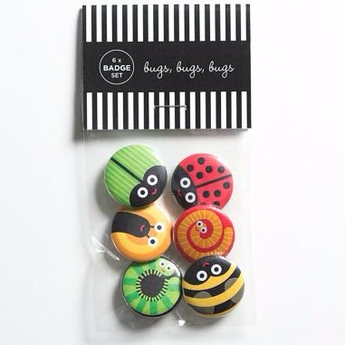 StoatsWeasels Bug Badge Set