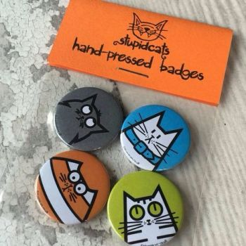 StupidCats Badge Set