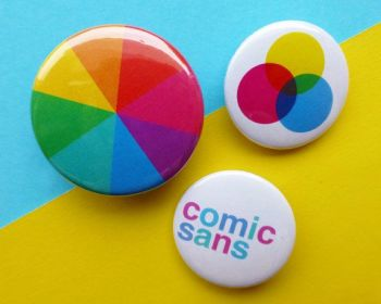 SugarAndSloth Colourwheel Badge Set