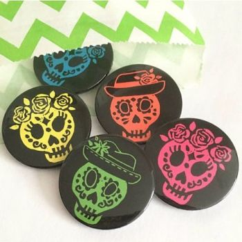 WoahTherePickle Day of the Dead Badges