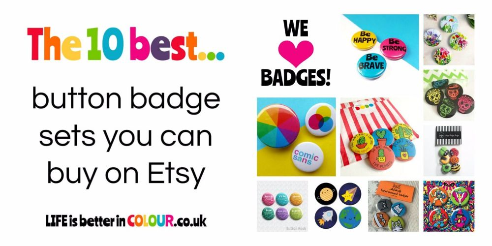 10 Best Button Badge Sets on Etsy