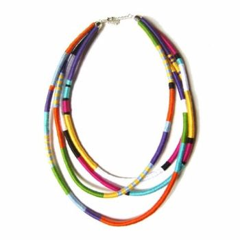 Colourful Tribal Cord Necklace