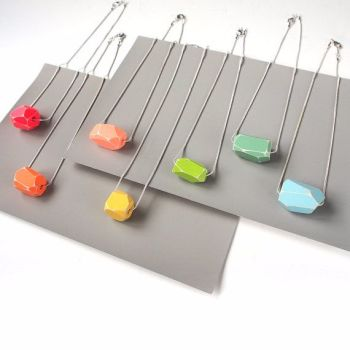 Geometrical Clay Bead Necklace
