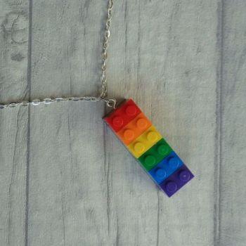 Rainbow Lego Necklace