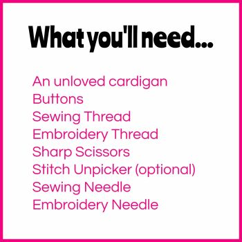 What Youll Need Cardigan Materials