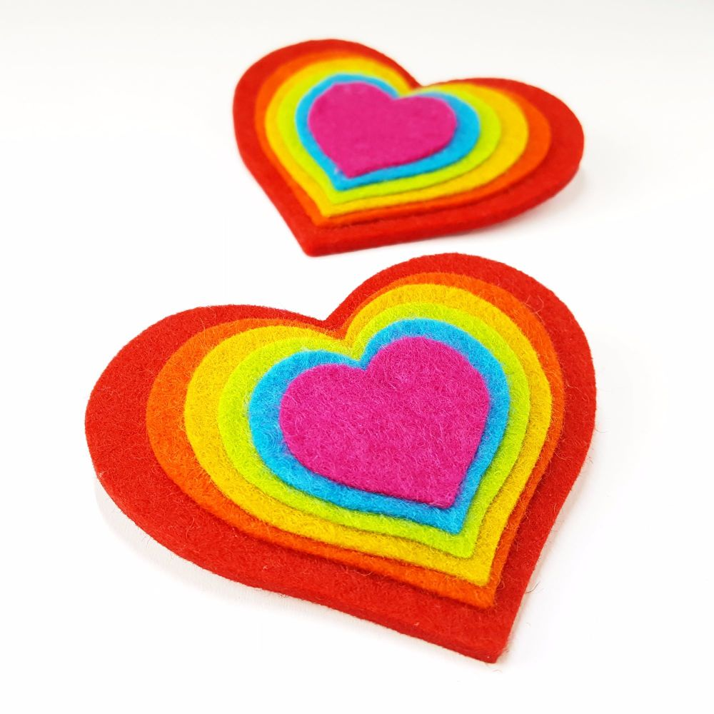 Rainbow Heart Brooch