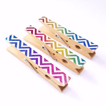 Shiny Washi Tape Pegs