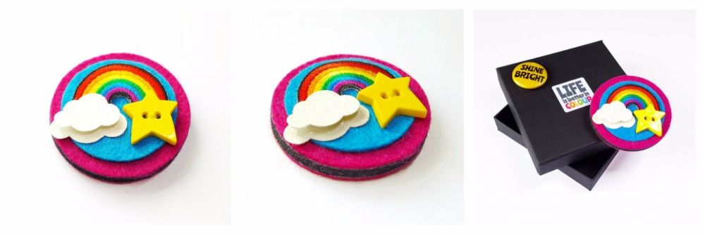 Rainbow Brooches