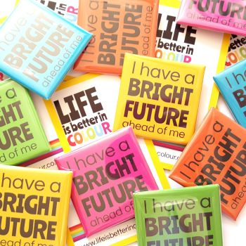 Bright Future Square Badge