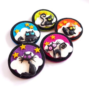 Creepy Cat Brooches