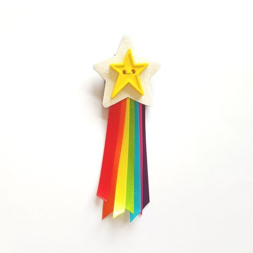 Rainbow Shooting Star Brooch