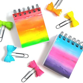 Rainbow Recycled Notebook