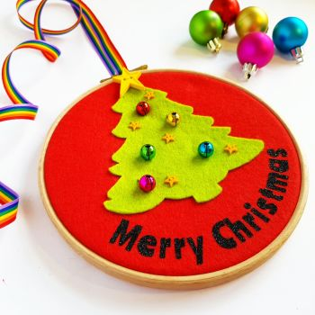 SALE! Colourful Christmas Tree Wall Hanging
