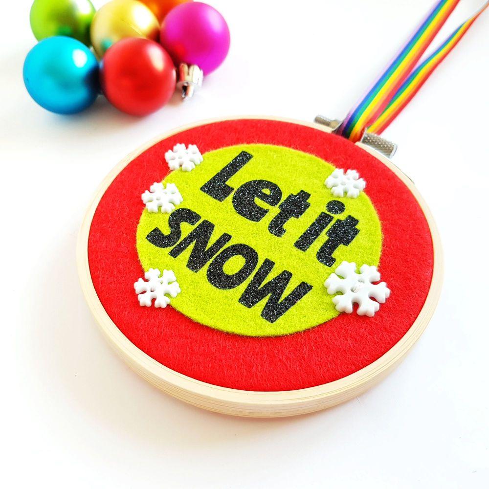SALE! 'Let it Snow' Christmas Decoration
