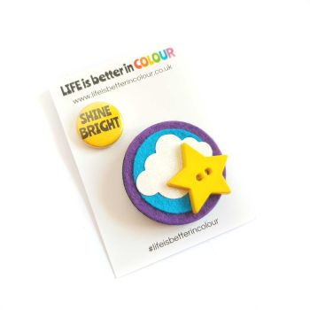 SALE! Shine Bright Star Brooch