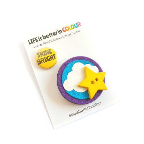 SALE! Shine Bright Star Brooch