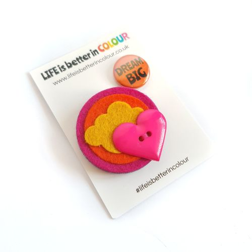SALE! Dream Big Sunset Brooch