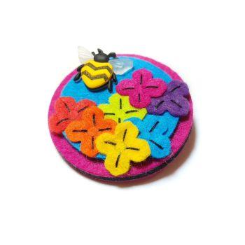 Blooming Rainbow Flower Brooch