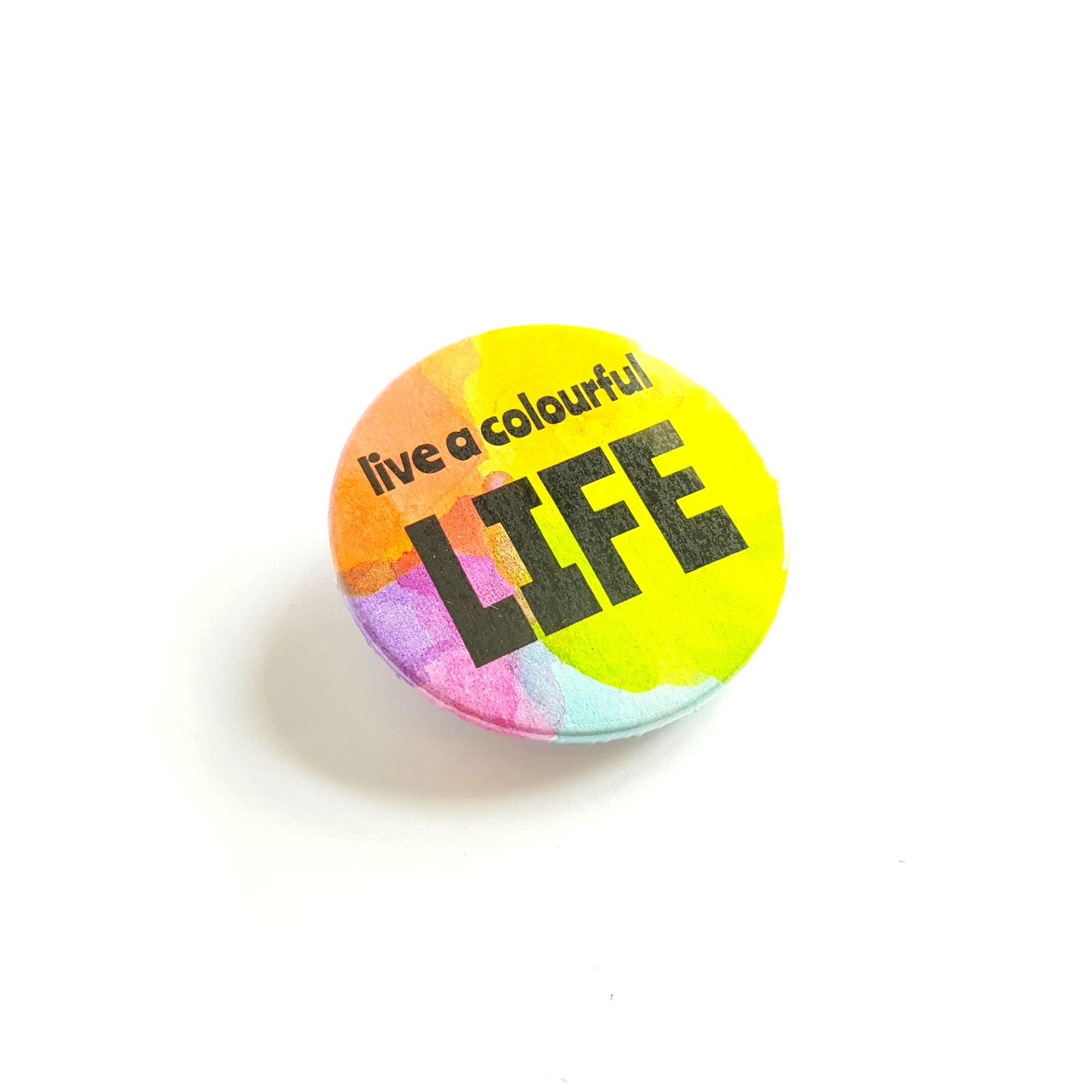 Live a Colourful Life Rainbow Badge