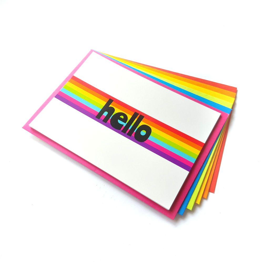 Hello Rainbow Postcard Set
