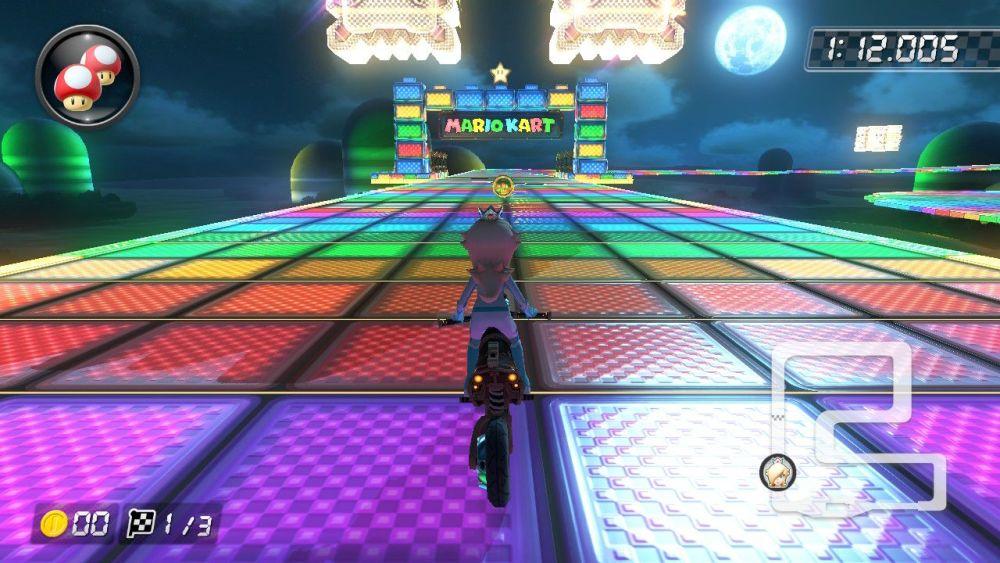 Rainbow Road Mario Kart Deluxe