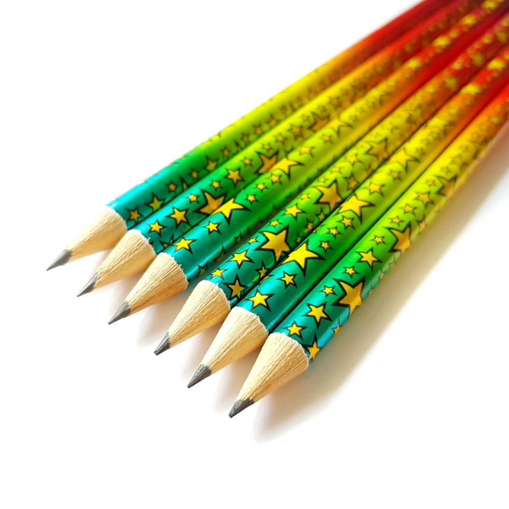 Rainbow Foil Pencils - Pack of Three