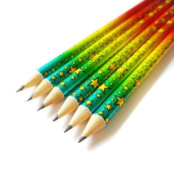 Set of 3 Rainbow Foil Pencils