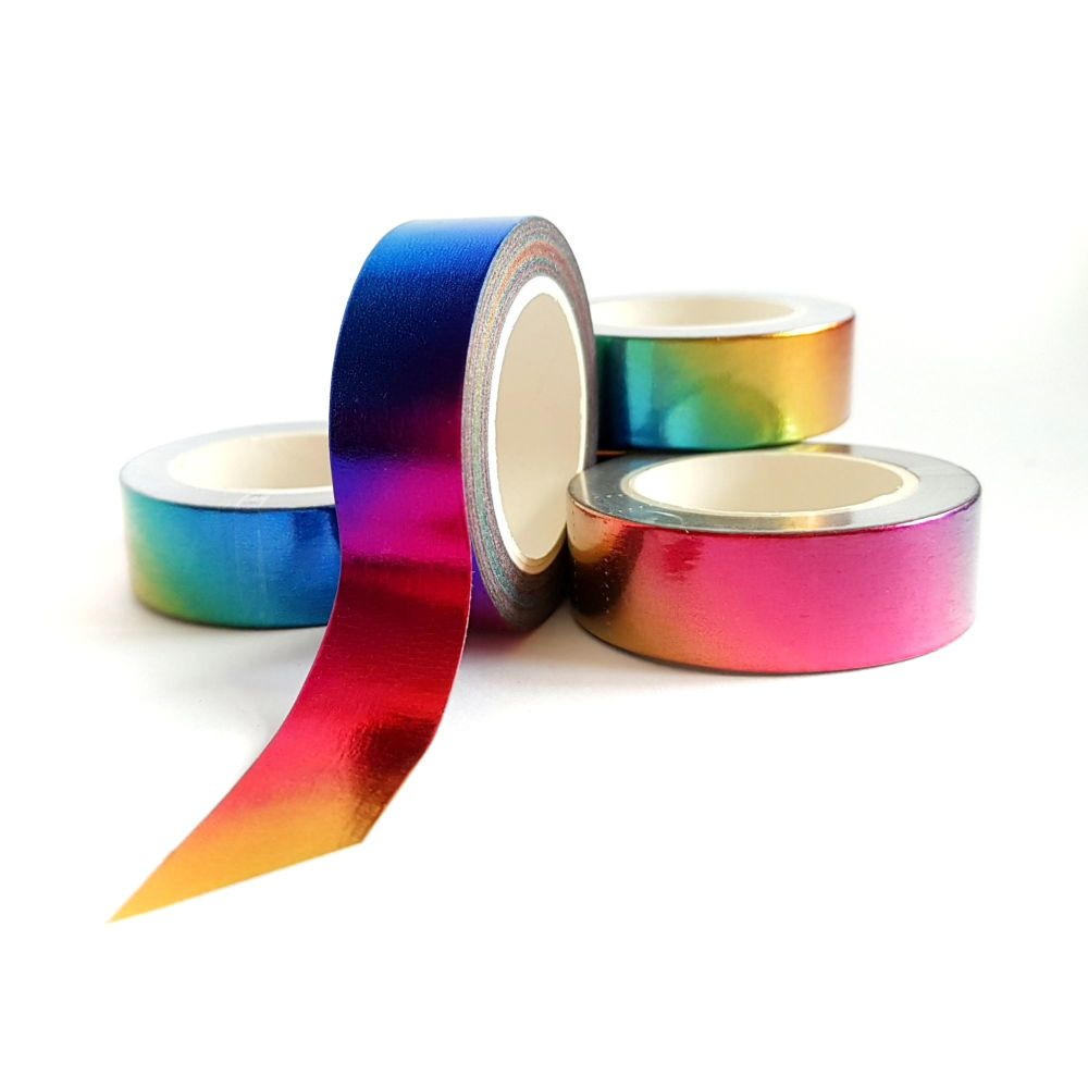 Rainbow Foil Washi Tape