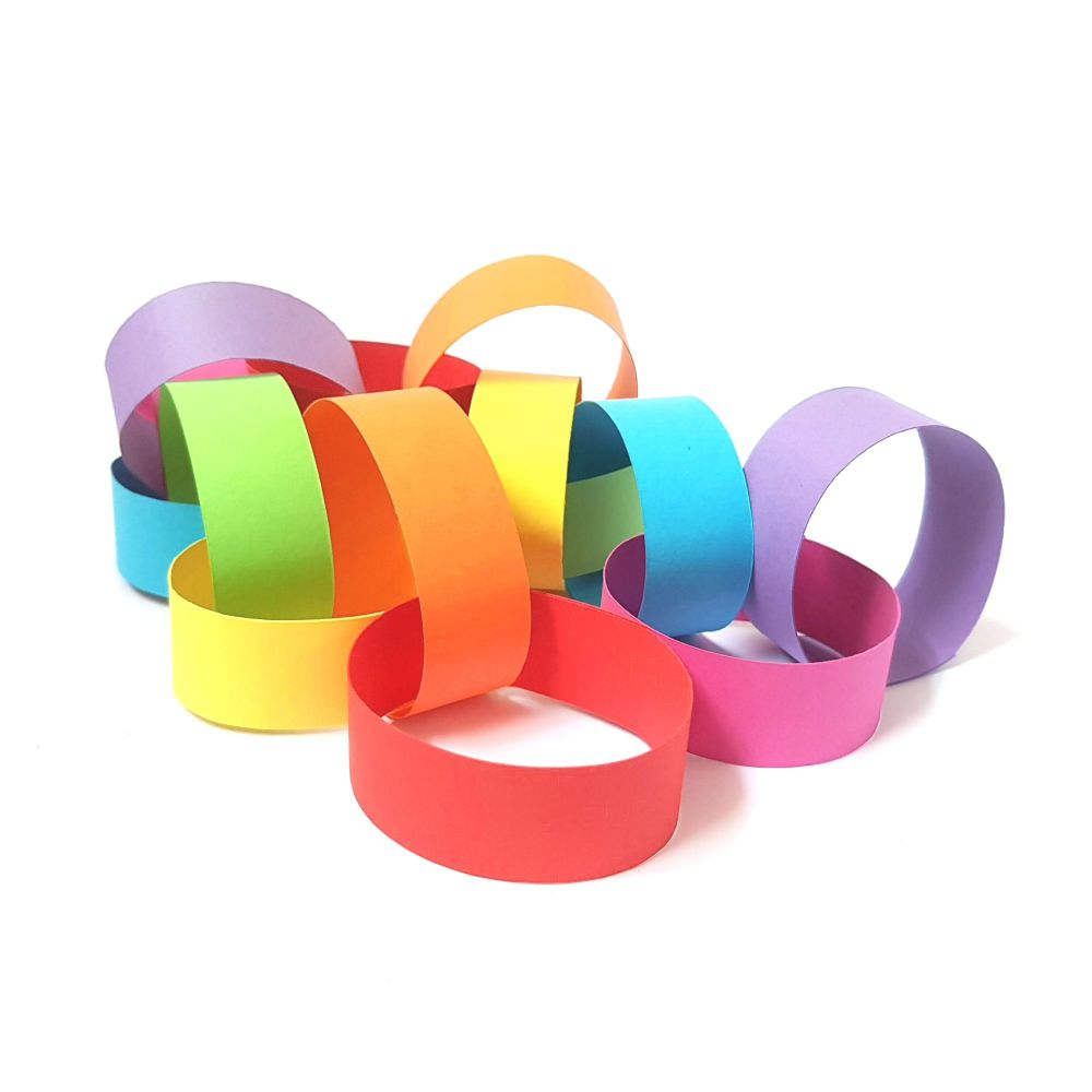Rainbow Paper Chain Craft Kit