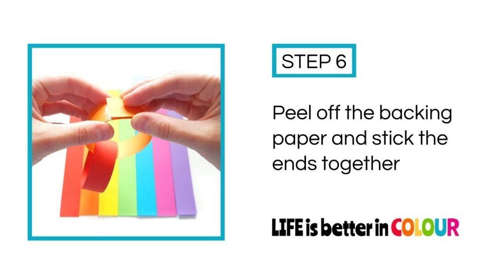 Rainbow Paper Chain Craft Tutorial